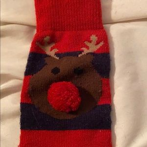 totes Other - Adorable Rudolf Tote Socks NBW!